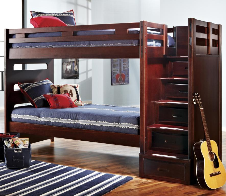 ivy league twin/twin bunk bed with step storage unit — buy ivy