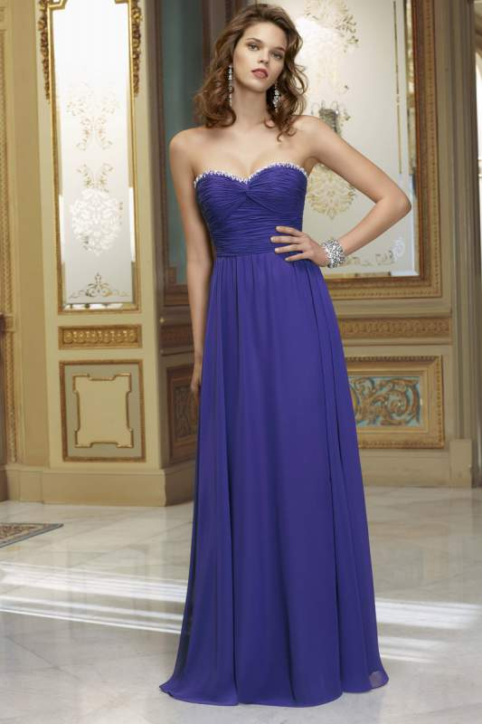 Buy Mori Lee bridesmaids strapless gown