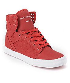 Buy Supra Skytop Red Express TUF Canvas Skate Shoe