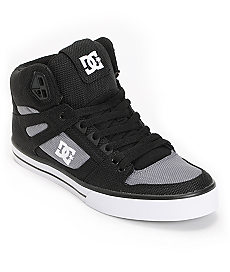 Buy DC Spartan Hi WC TX Black & Grey Canvas Skate Shoe