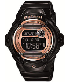 Buy G-Shock BG169G-1 Baby-G Black & Rose Gold Watch