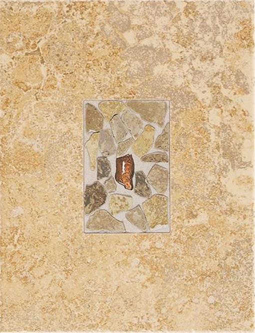 Buy Castle de Verre by Dal-Tile Chalice Gold Wall Deco Tile