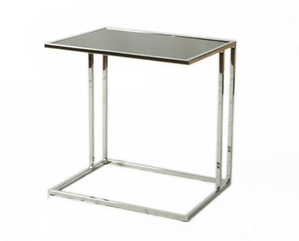 Buy Norway End Table with Black Glass Top