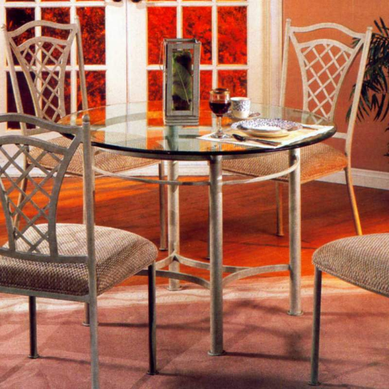 "Buy 42"" Round Glass Top Dining Table"