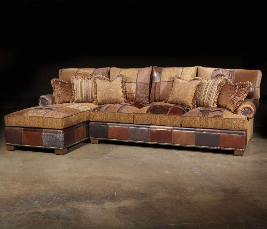 Choices Patched Western Sectional Sofa