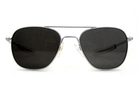 american aviator sunglasses  American Optical Pilot - Matte Silver Eyewear \u2014 Buy American ...