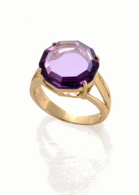 Buy Je t'aime Amethyst Round Ring