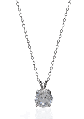 Buy White Gold Solitaire Pendant Necklaces