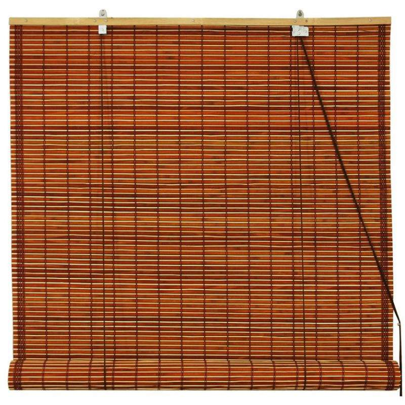 size roll reed indooroutdoor within blinds window wood up bamboo x woven natural radiance