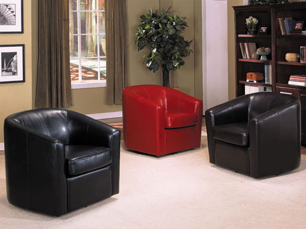 Buy Montego Leather Swivel Accent Chair