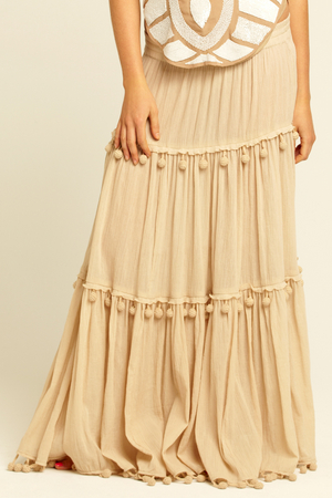 Tiered gauze maxi skirt – Modern skirts blog for you