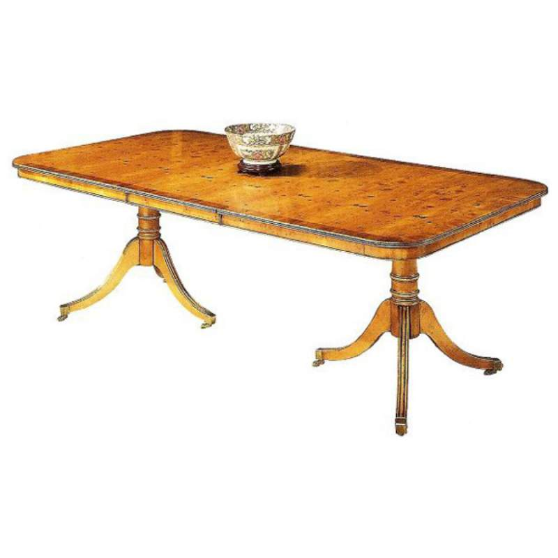Buy Silsbury double pedestal dining table