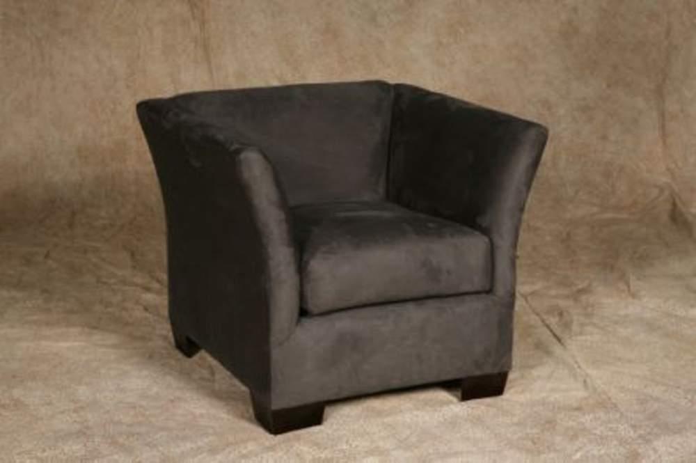 Buy Charcoal suede armchair