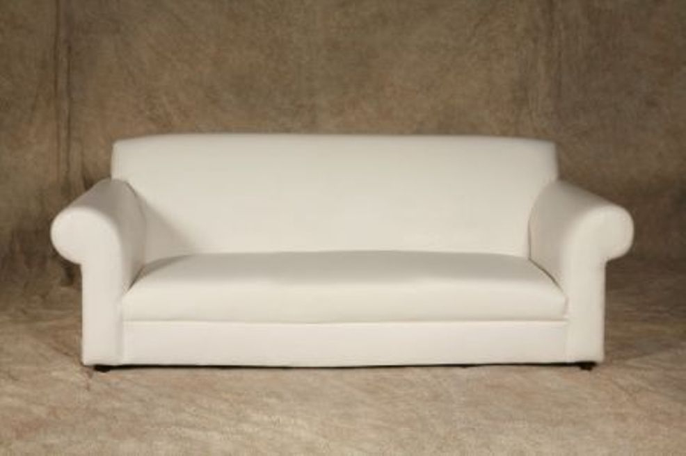 Buy White lea leather sofa