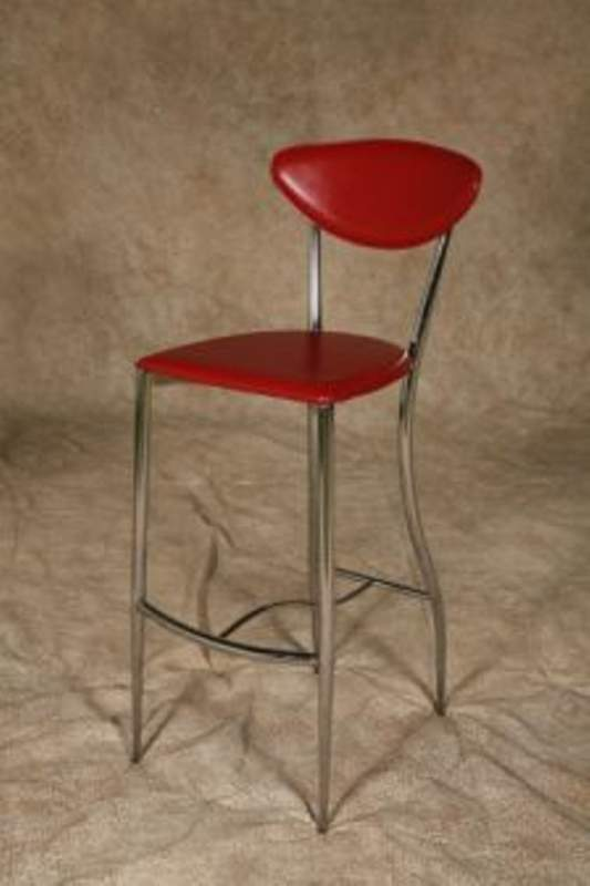 Buy Red chrome barstool