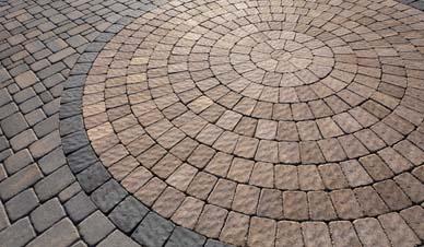 concrete circle patio