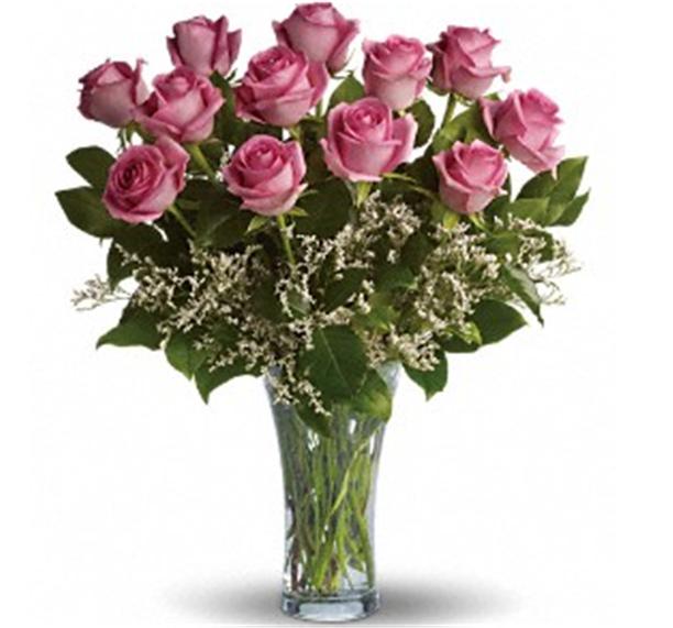 Buy Dozen Long Stemmed Pink Roses