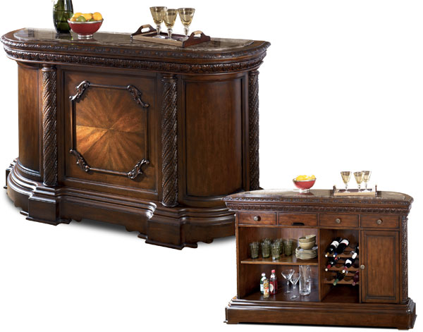 Ordinaire North Shore Marble Top Bar