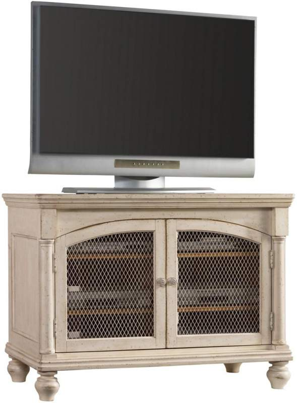 Primrose Hill 44 Inch Entertainment Console With Two Wood Framed Doors With Chicken  Wire By Hooker Furniture