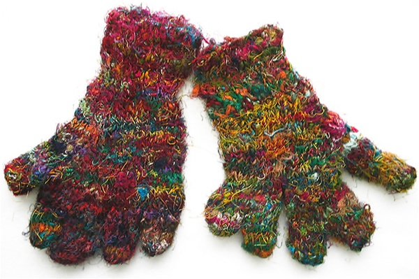 Buy Recycled Silk Gloves