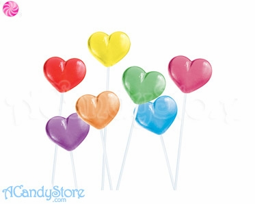 Buy Assorted Color Hearts Twinkle Pops