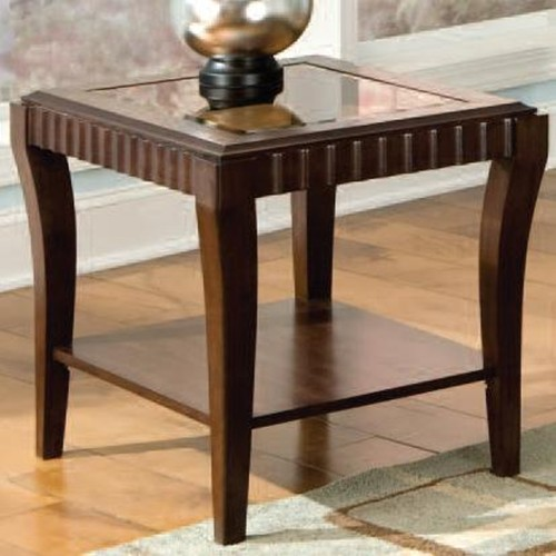 Standard Furniture Malibu End Table With Display Shelf At Wilcox