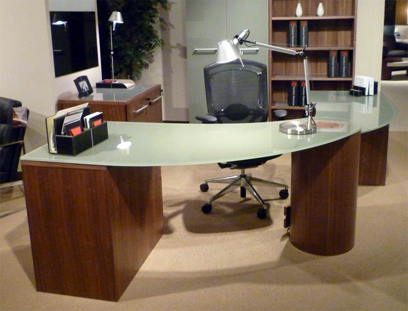 Glass Office Tables contemporary glass office furniture - hypnofitmaui