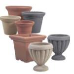 Terrazzo urns, decorative planters