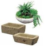 Olde Stone rustic planters