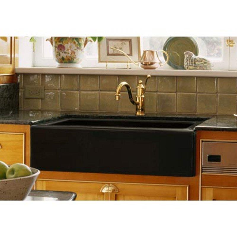 Black Apron Front Single Bowl Kitchen Sink