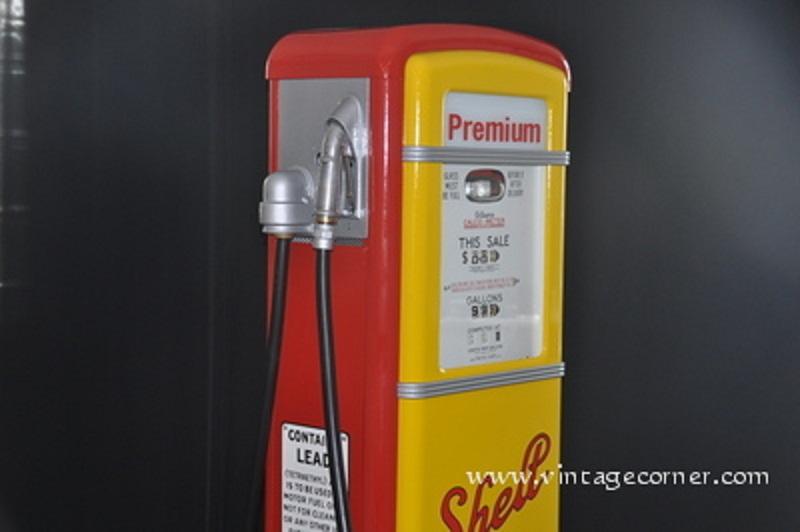 Vintage petrol pump pompe essence shell 50 39 s restauration - Deco pompe a essence vintage ...