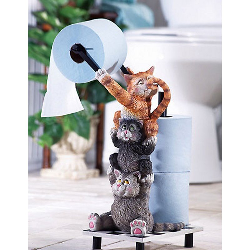 Climbing Kittens Toilet Paper Holder