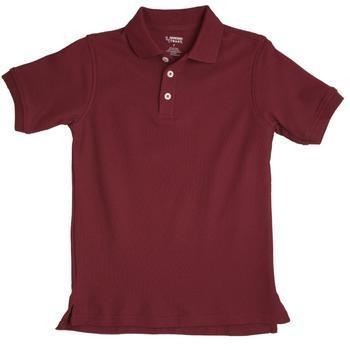 Buy Boys Burgundy Short Sleeve Pique Knit Polo