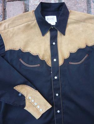 Buy Genuine Leather 2-Tone Western Shirt
