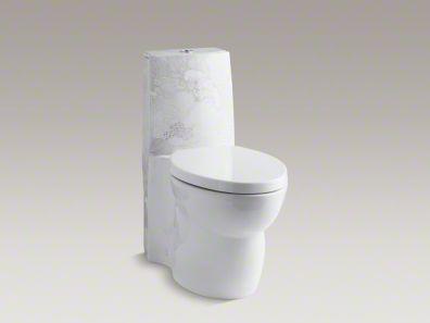 Buy Empress Bouquet™ design on Saile® one-piece elongated toilet