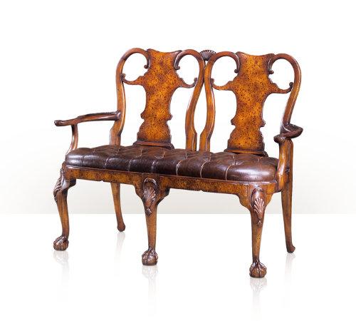 Buy A poplar burl chair back settee