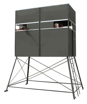 Double Deer Blind w/ 5' Tower & Sliding Door