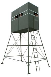 Double Deer Blind w/ 10' Tower & Sliding Door