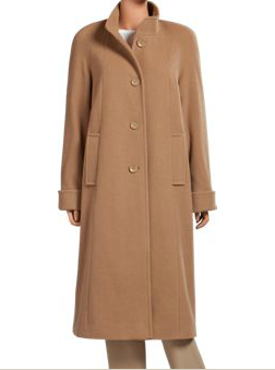 Buy Funnel-Neck Wool-Blend Coat