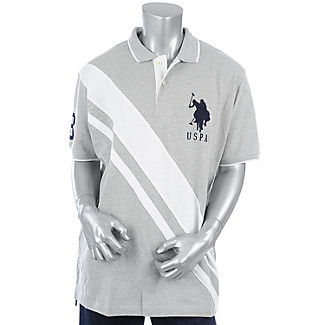 Buy Mens Cross Stripe Polo