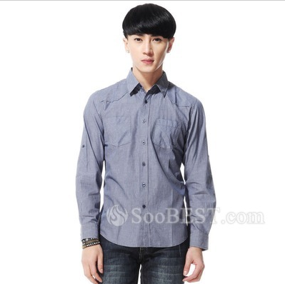 Buy Men's Spring Comfortable New Arrival Long-sleeved Cotton Striped Shirt