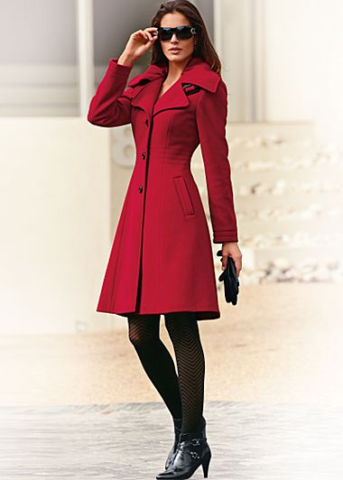 Red (RD) Tailored A-Line Coat — Buy Red (RD) Tailored A-Line Coat
