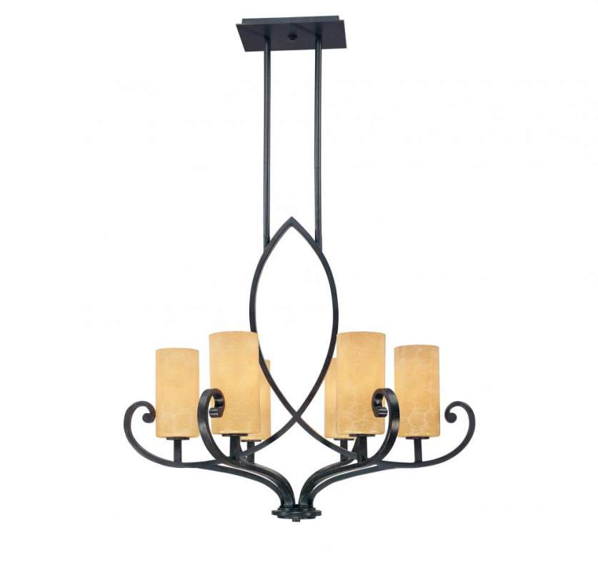 Buy Six Light Copper Candle Chandelier