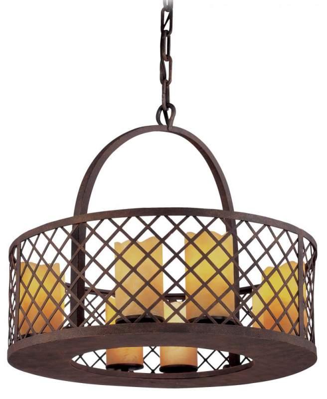 Buy Eight Light Bronze Candle Pendant
