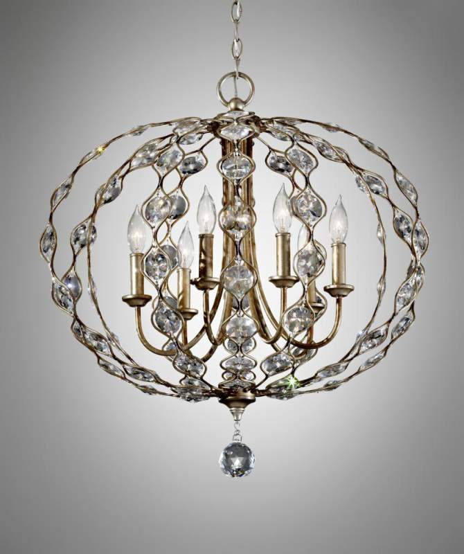 Buy Six Light Silver Multi Light Pendant