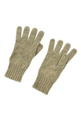 Buy Inhabit Olive Green Cashmere Gloves