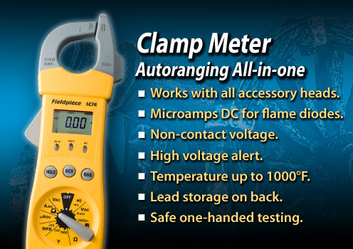 Buy HVAC/R Clamp Meter with Temperature and Capacitance - SC76