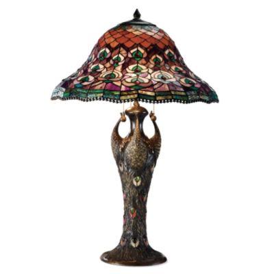 Buy Tiffany Peacock Table Lamp