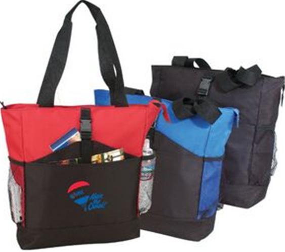 Buy Deluxe Zipper Poly Tote Bag