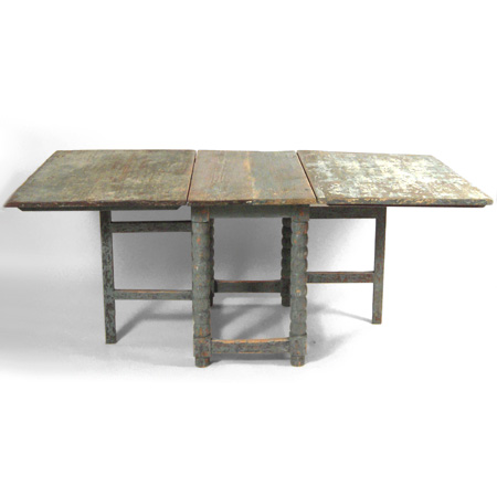 Buy Swedish Blue Painted Dining Table